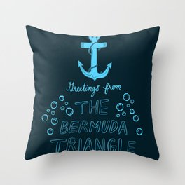 Greetings from The Bermuda Triangle Throw Pillow