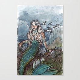 Tempest Mermaid Canvas Print