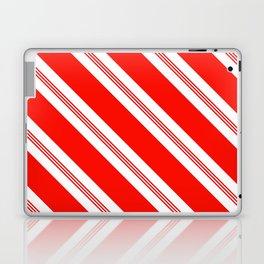 Candy Cane Stripes Holiday Pattern Laptop & iPad Skin