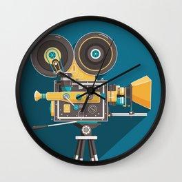 CINE: Blue Wall Clock