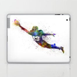american football player scoring touchdown Laptop & iPad Skin
