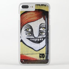 One face four eyes. Clear iPhone Case