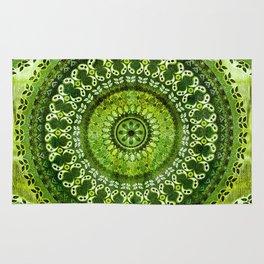 Vintage Lime Mandala Rug