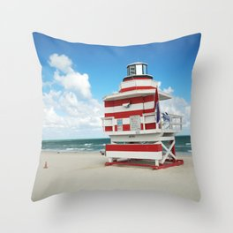 Baywatch House (Miami Beach, Florida) Throw Pillow