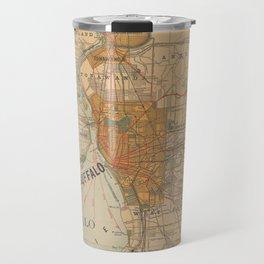Vintage Map of Buffalo NY (1893) Travel Mug