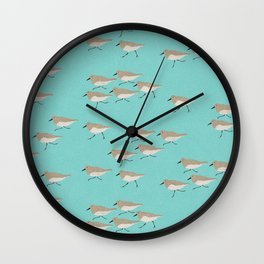 Scattering Sandpipers Wall Clock