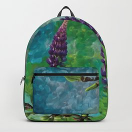 For The Love Of Lupines by annmariescreations Backpack