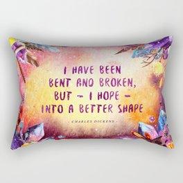 I have been bent and broken Rectangular Pillow