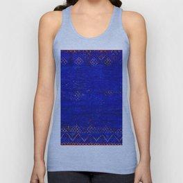 -A5- Royal Calm Blue Bohemian Moroccan Artwork. Unisex Tank Top