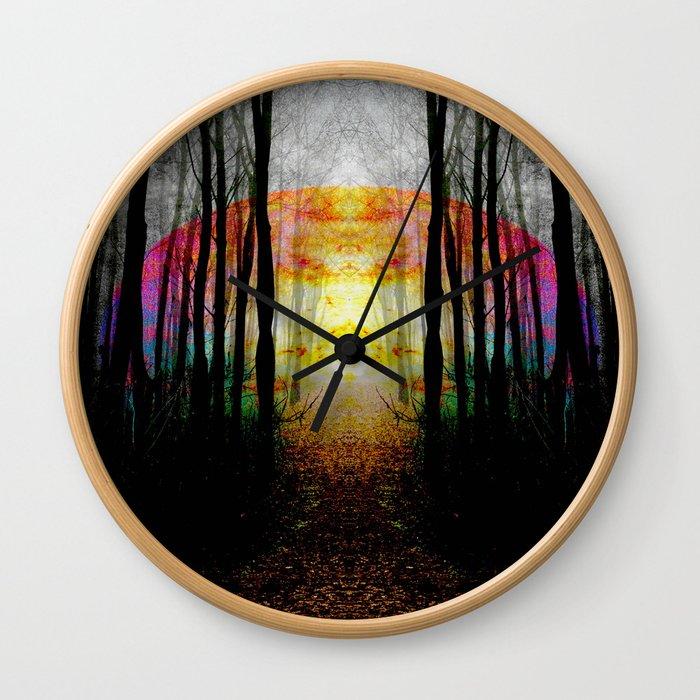 Rainbow Path To Imagination Wall Clock