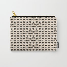Eyes / Mouth Pattern Carry-All Pouch