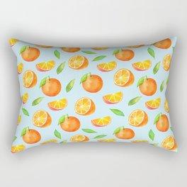 Watercolor Oranges Pattern 3 Rectangular Pillow