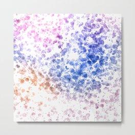 Colorful Watercolor Spots Metal Print