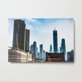Dubaï, Business Bay Tower Metal Print