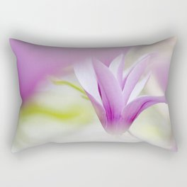 Pink liliflora magnolia flower Rectangular Pillow