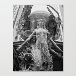 Downtown Statues Canvas Print