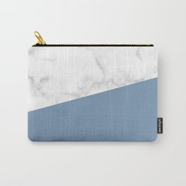 marble and ocean blue Carry-All Pouch