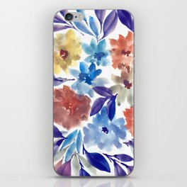 hand painted flowers_3c iPhone Skin
