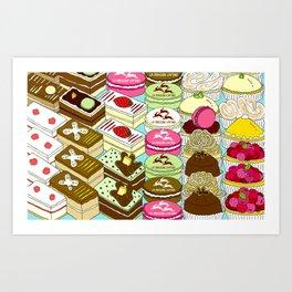 Cakes Cakes Cakes! Art Print