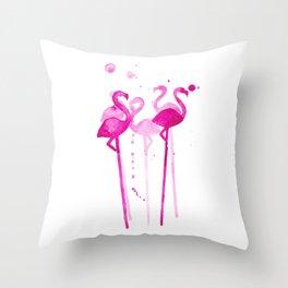 Flamingo Stirrers Throw Pillow
