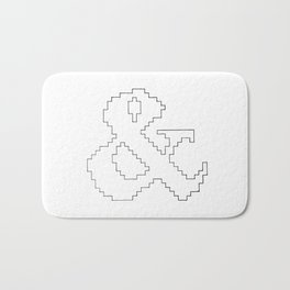 Ampersand pixel Bath Mat