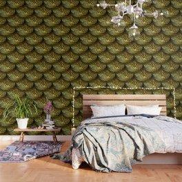 Gold Filigree Leaf Wallpaper
