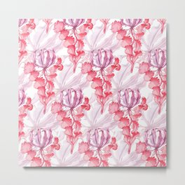 Vortex Floral Pattern from the Impossible Florals Series Metal Print