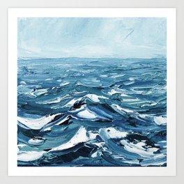 Deep Dark Seas Art Print