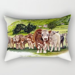 Herd It Throught the Grapevine Rectangular Pillow