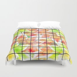 abstract floral background Duvet Cover