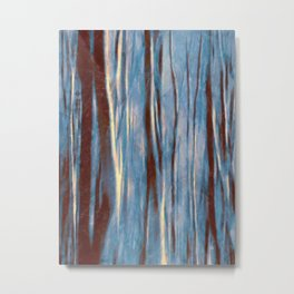 Dawn in the Winter Forest #impressionism #abstract #moods #society6 Metal Print