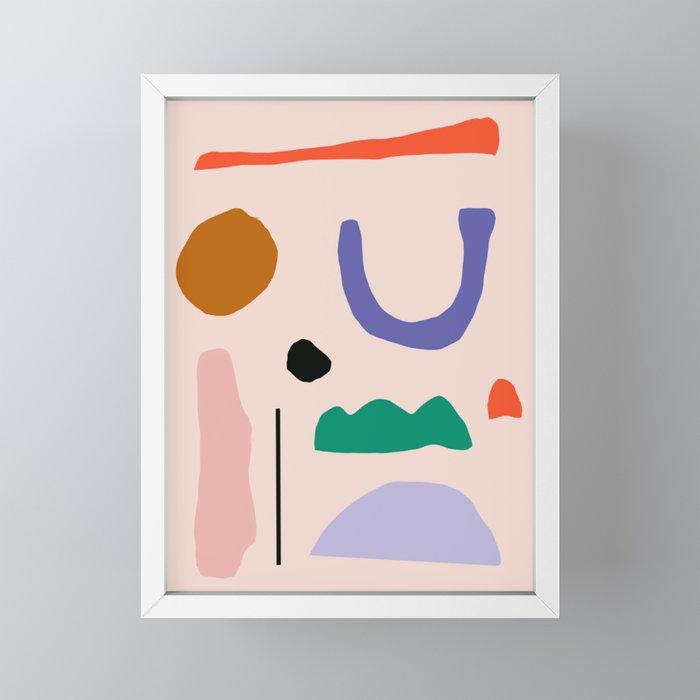 Shapes Framed Mini Art Print