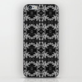 Black and White Budding Crepe Myrtle Pattern iPhone Skin