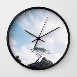 Tree on the rock Wall Clock