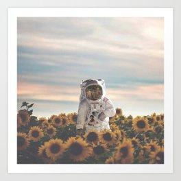 The Sunflower Galaxy, Messier 63 Art Print