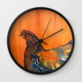 Orange Chicken Wall Clock