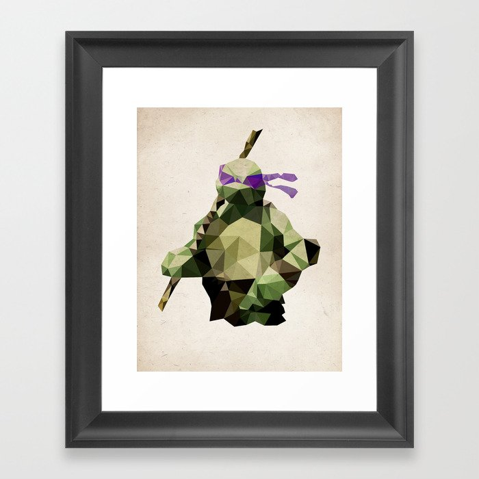 Polygon Heroes - Donatello Framed Art Print