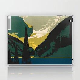 Lovely Lake Louise vintage travel ad Laptop & iPad Skin
