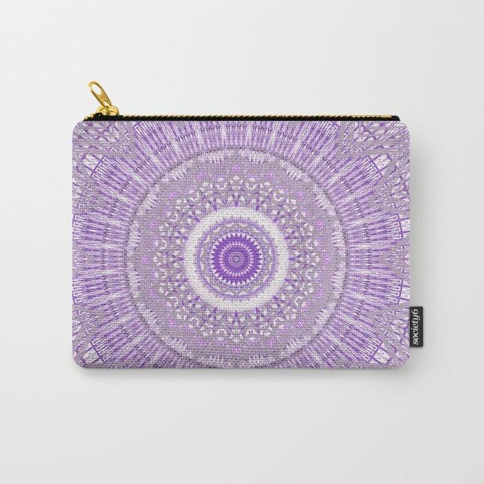 Lavender Purple Lace Mandala Carry-All Pouch