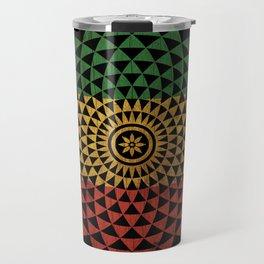 Rasta Flower of Life Travel Mug