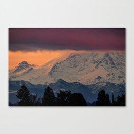 Autumn Morning Light on Mount Rainier Canvas Print