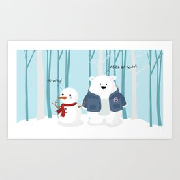 Mr Polar Bear Art Print
