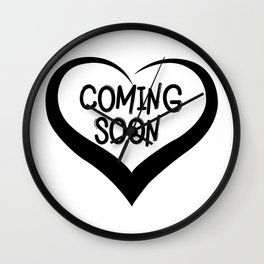 Coming Soon Pregnancy Announcement Gift Wall Clock