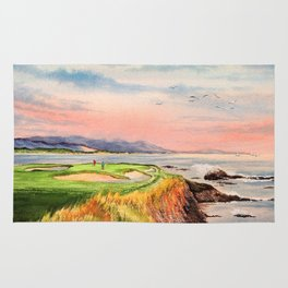 Pebble Beach Golf Course 7th Hole Rug