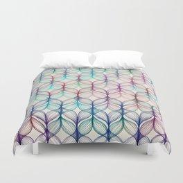 Mermaid's Braids - a colored pencil pattern Duvet Cover