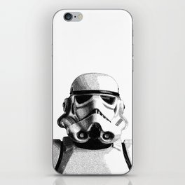 Stormtrooper Hand Drawn Dotwork - StarWars Pointillism Artwork iPhone Skin