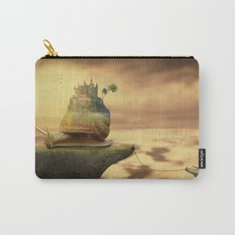 The Snail With The Castle Back Pulls The World Carry-All Pouch