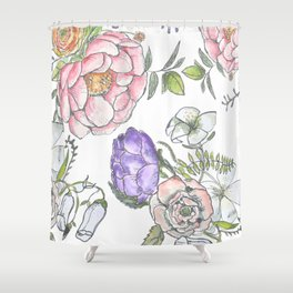 cottage flowers in bloom Shower Curtain