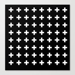 Swiss Cross Scandinavian Design Canvas Print