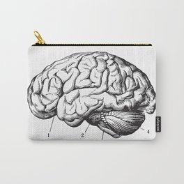 Human Brain Sideview Anatomy Detailed Illustration Carry-All Pouch